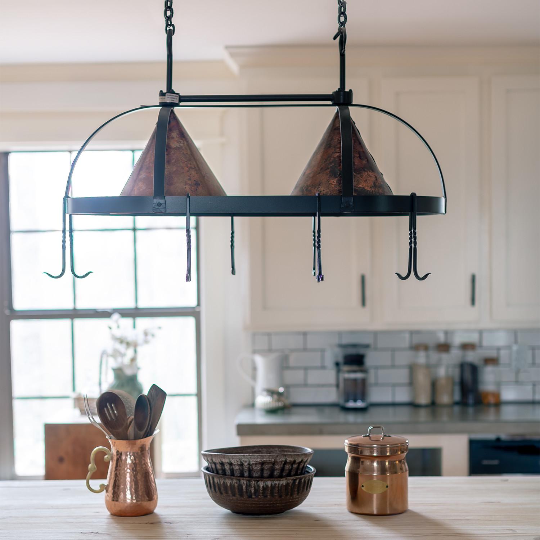 dutch oval pot rack fired copper