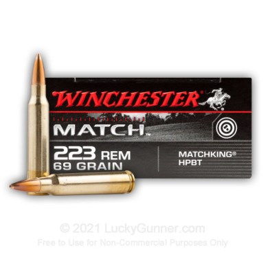 Bulk Match Grade 223 Rem Ammo For Sale - 69 gr HPBT Ammunition In Stock by  Winchester - 200 Rounds