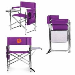 Sport Folding Chairs Chair Stool Price Clemson Tigers Purple Sports