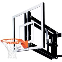 Goalsetter GS48 Adjustable Glass Wall Mounted Basketball Hoop