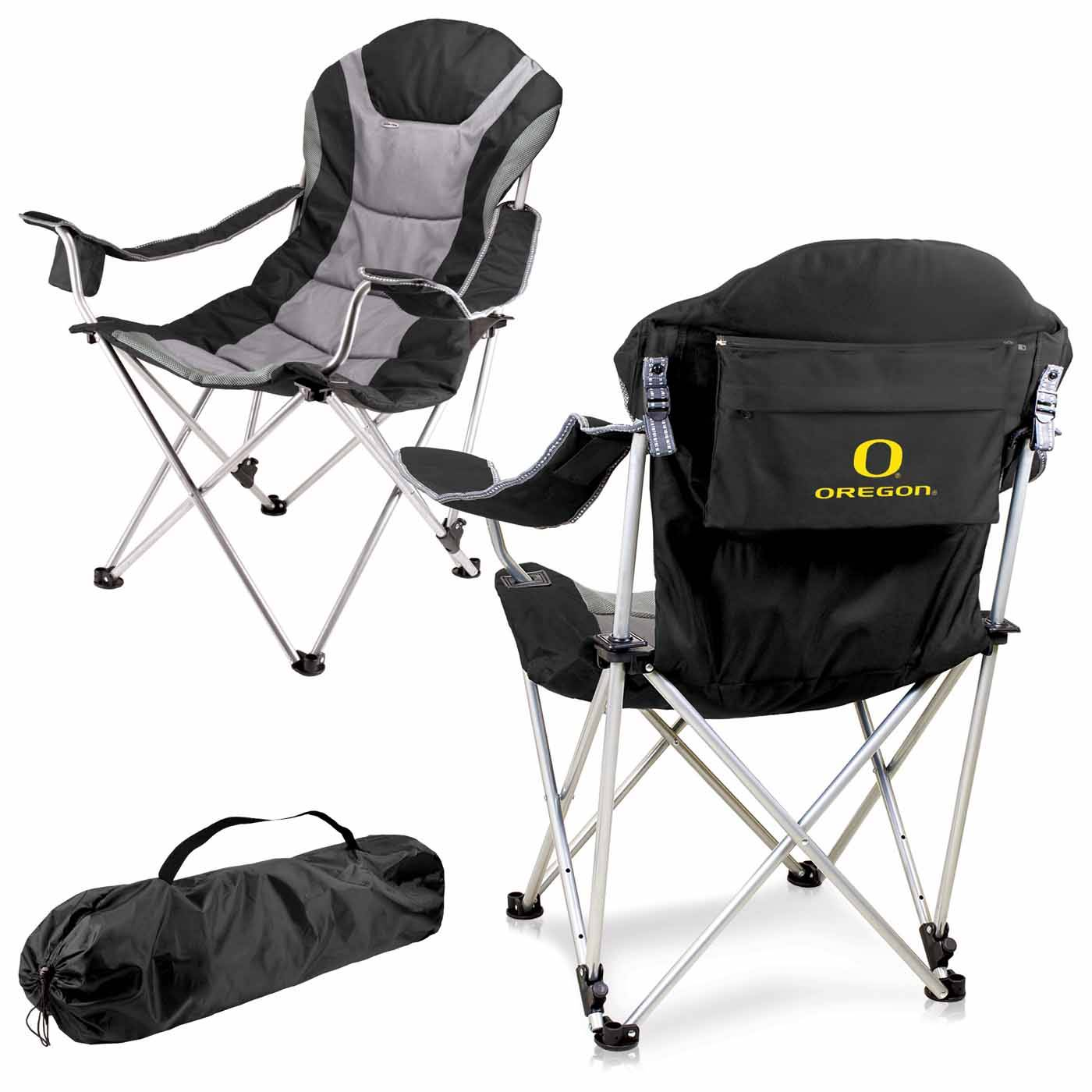 Reclining Camp Chair Oregon Ducks Black Reclining Camp Chair
