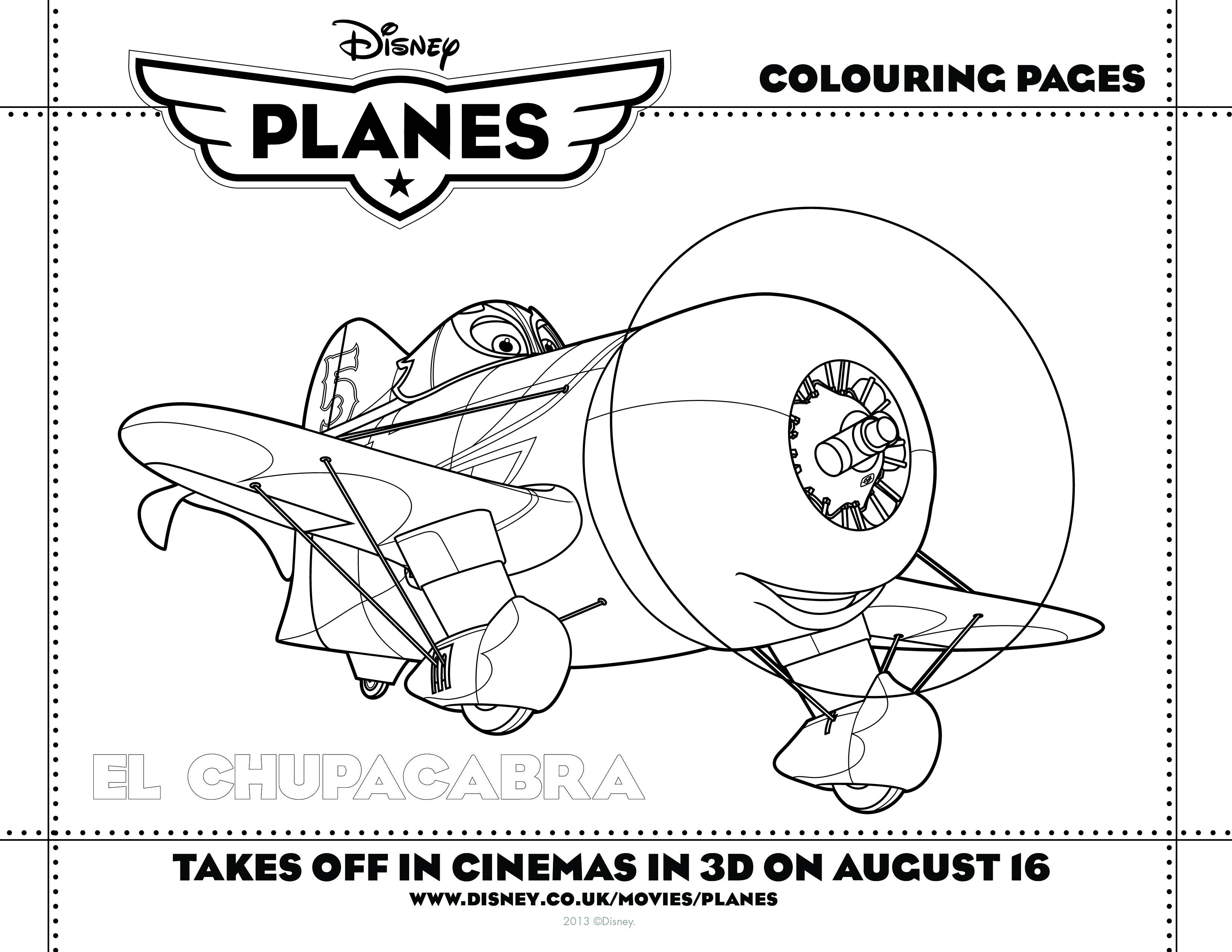 Play with Disney Planes colouring-in activity sheets