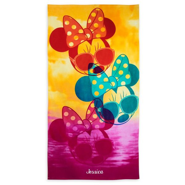 Minnie Mouse Beach Towel - Personalizable Shopdisney