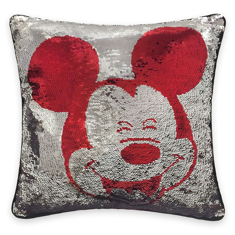 mickey mouse reversible sequin pillow