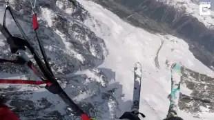 volo in sci e paracadute 3