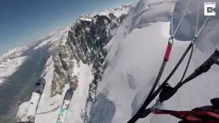 volo in sci e paracadute 6