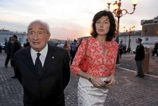Sartori e la moglie Isabella Gherardi