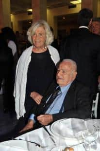 Sandro Parnasi con la moglie