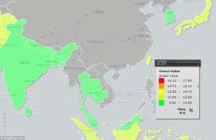 in verde i paesi meno dotati