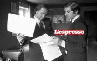 Silvio Berlusconi con Marcello DellUtri Foto di Alberto Roveri