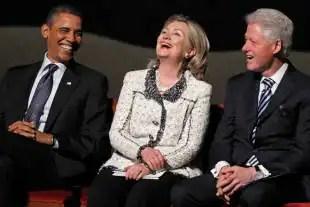 obama hillary e bill clinton