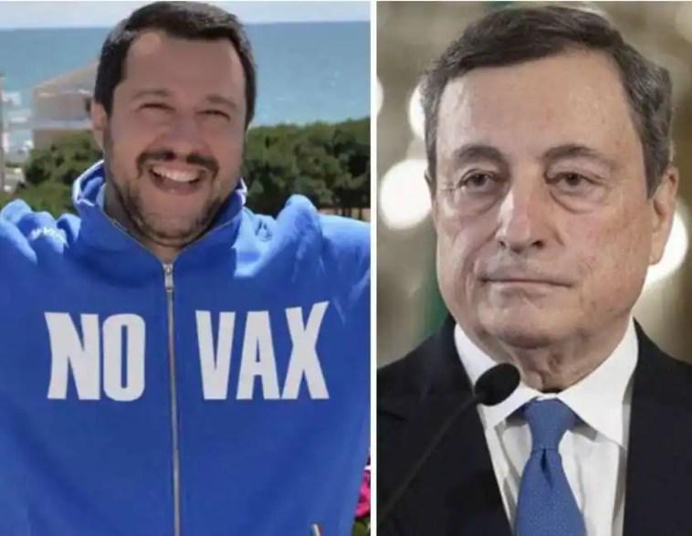 draghi infilza il no-vax salvini: 'l'appello a non vaccinarsi è un appello a morire, sostanzialmente