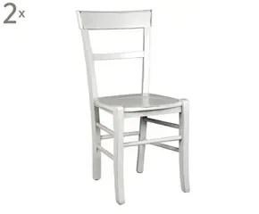 Sedie in legno bianche sedute chic e raffinate  Dalani e