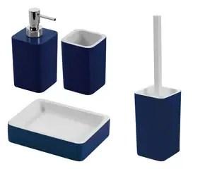Mobile bagno blu accessori per una stanza di relax