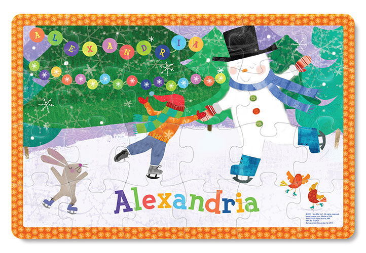 My Magical Snowman Personalised Puzzle | Personalised Christmas Gift For Kids