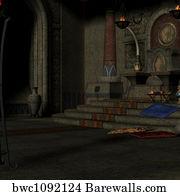 Fantasy throne room Art Print Barewalls Posters & Prints bwc6034982
