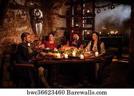 Medieval kitchen Art Print Barewalls Posters & Prints bwc11273350