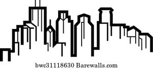 Art Print of Minneapolis Minnesota city skyline silhouette