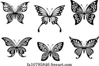 Free Butterfly Silhouette Art Prints and Wall Art | FreeArt