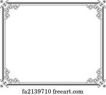 free certificate border art prints
