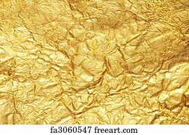 free gold foil art