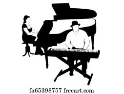 Free art print of Jazz piano. Detail of the keyboard of a