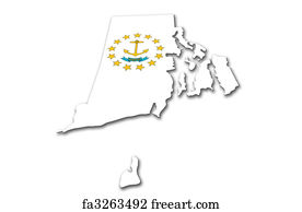 Free art print of Providence, Rhode Island. Skyline of