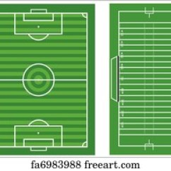 Football Pitch Diagram To Print Branch Christmas Tree Free American Art Prints And Wall Artwork Freeart Scale Vector Diagrams Of A Soccer An