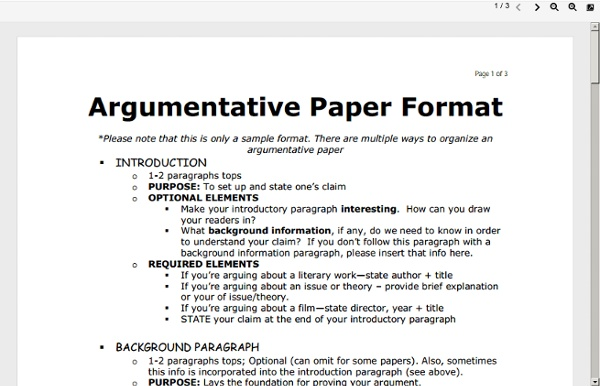 Argument Paper Format Hizli Rapidlaunch Co