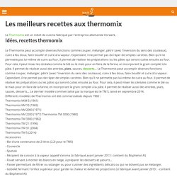 espace recettes thermomix pearltrees