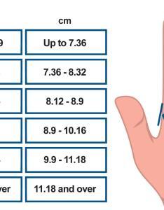 Glove size chart also ammex rh