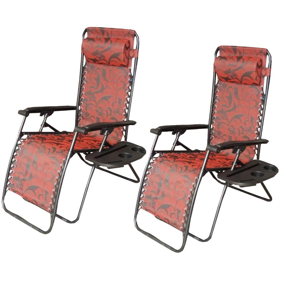 zero gravity chair 2 pack desk legs dura monte carlo sling chairs with trays home product image