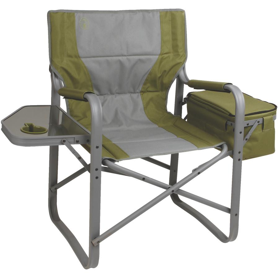 Folding Camp Chair With Side Table Coleman Aluminum Directors Camping Chair With Side Table And Cooler