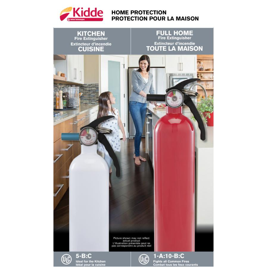 kidde kitchen fire extinguisher new cabinets 2 pack and home extinguishers hardware canada