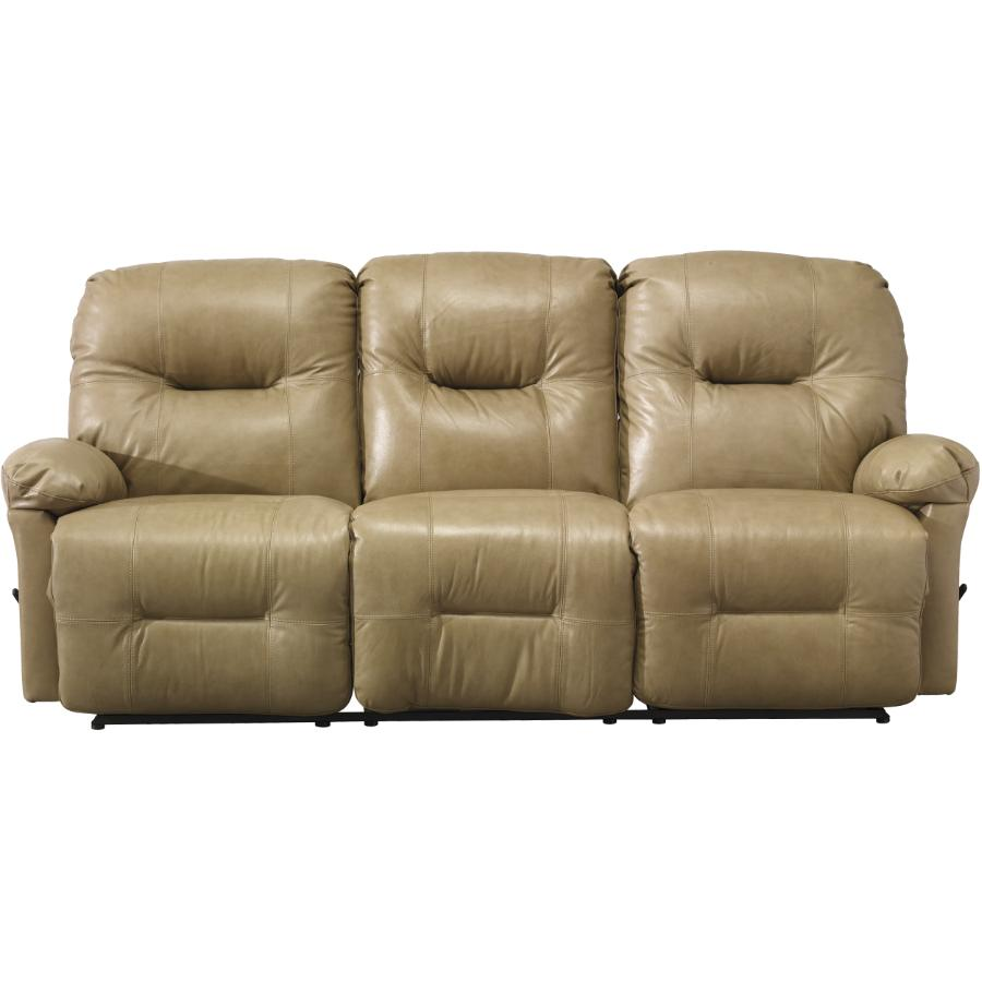 reclining sofa leather brown home furniture best furnishings zaynah stone match product image