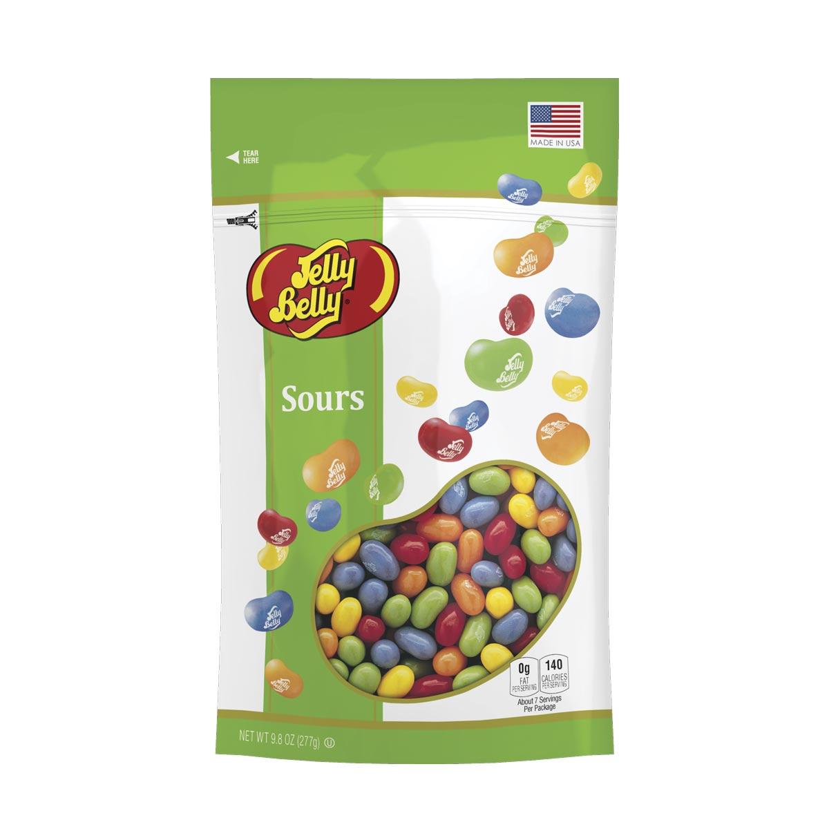 Sours Jelly Beans 98 oz Pouch Bag