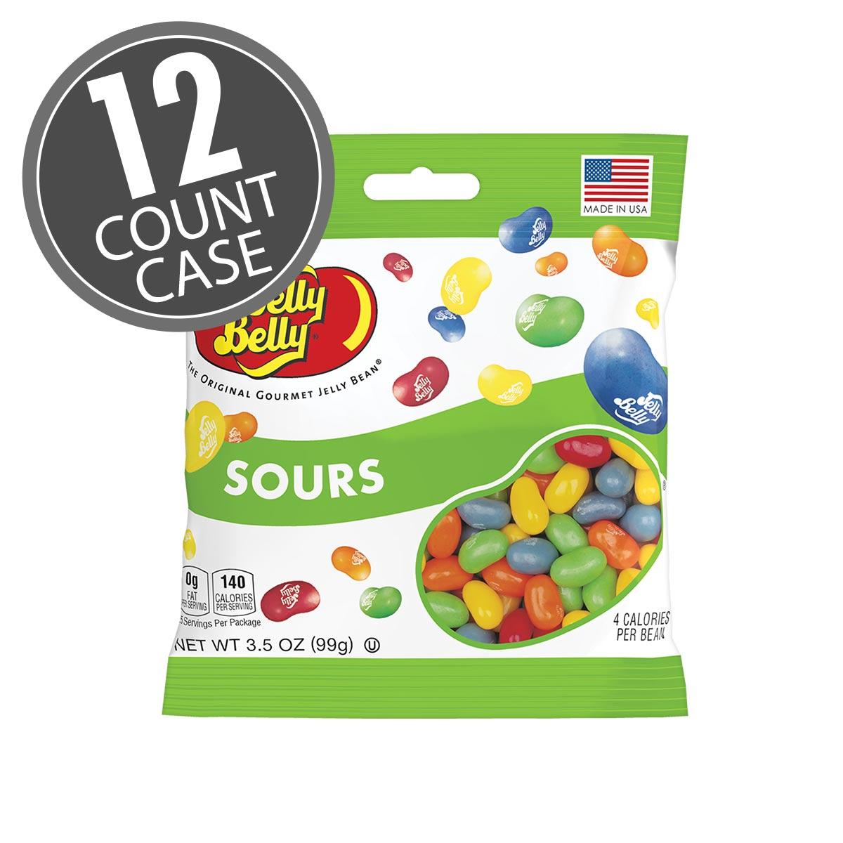 Sours Jelly Beans 35 oz Bag 12 Count Case