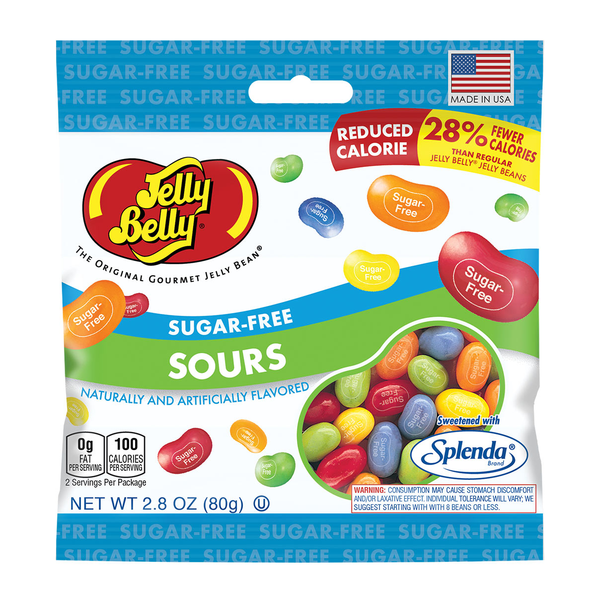SugarFree Sours Jelly Beans 28 oz Bag
