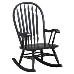 Alabama Rocking Chair Log Dining Chairs Cracker Barrel Old Country Store Classic Americana Style Windsor Rocker Antique Black