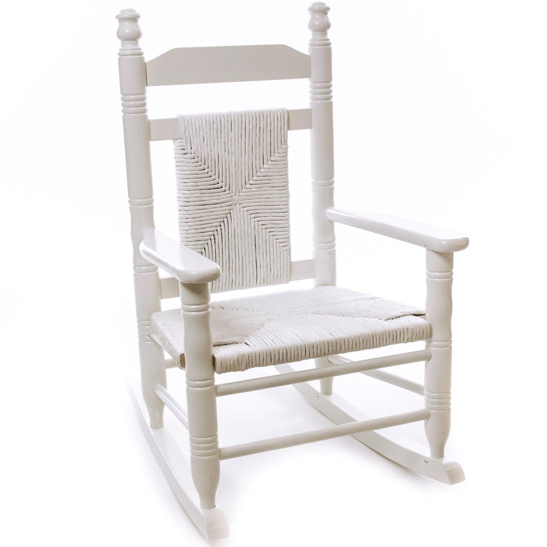 cracker barrel rocking chair reviews large recliner chairs indoor wooden old country store child woven seat pure white