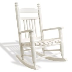 Cracker Barrel Rocking Chair Reviews Pilot Ready Room Indoor Wooden Chairs Old Country Store Slat Child Pure White