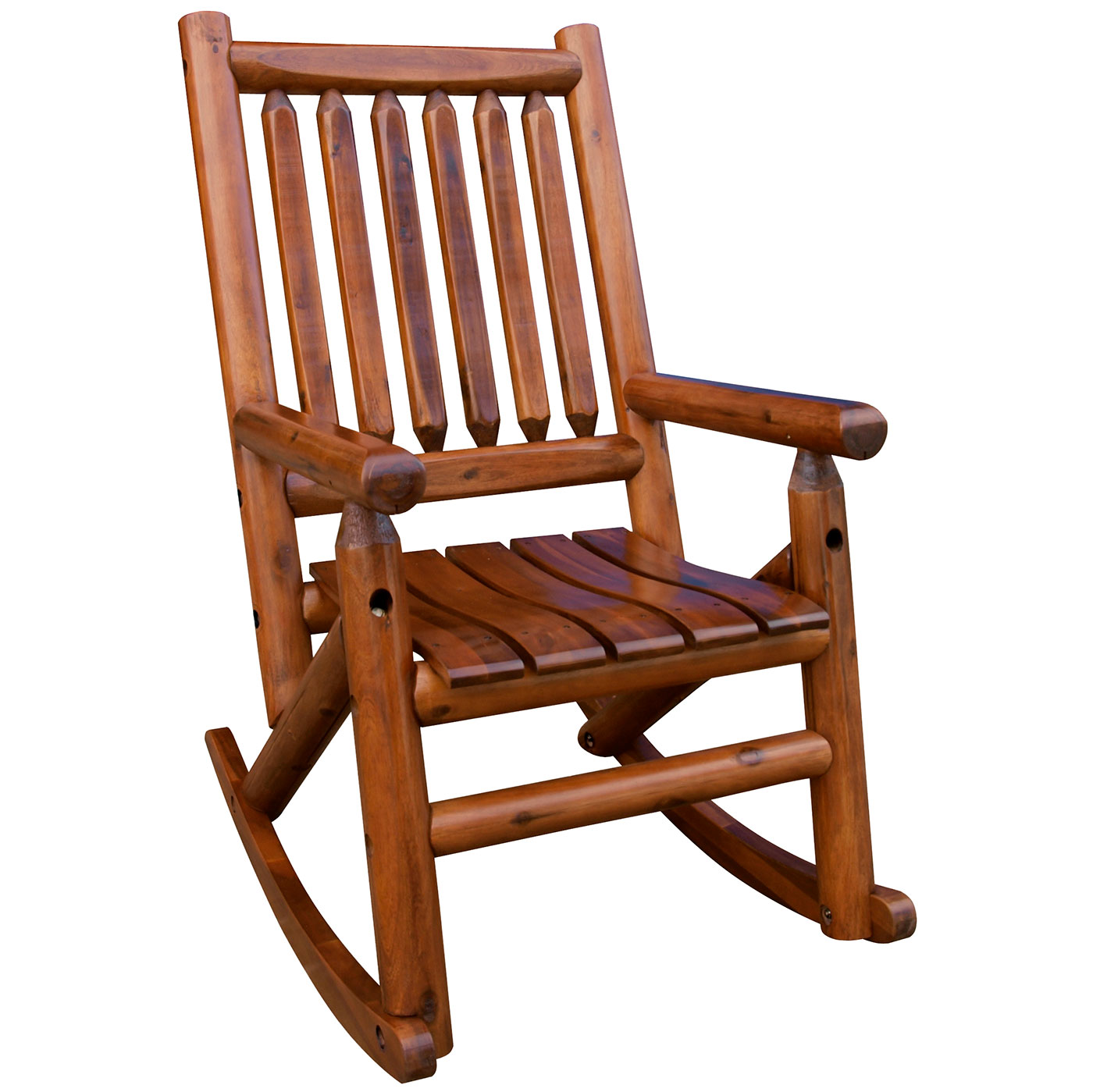Cheap Rocking Chairs Amber Log Wooden Rocker