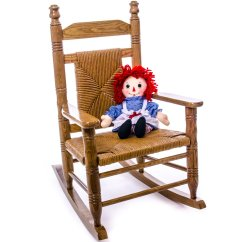 Woven Rocking Chair Plastic Lawn Chairs Kmart Child Seat Hardwood Home Furniture Indoor Cracker Barrel Old Country Store