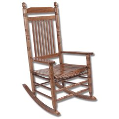 Oak Rocking Chair Plans Patio Fabric Replacement Adult Slat Hardwood Home Furniture Indoor Chairs Cracker Barrel Old Country Store