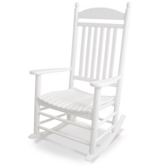White Rocking Chairs For Sale Spandex Chair Covers Wholesale Outdoor Cracker Barrel Old Country Store Polywood All Weather Jefferson Slat Rocker