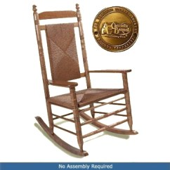 Black Rocking Chairs Cracker Barrel White Leather Dining Side Chair Wooden - Old Country Store