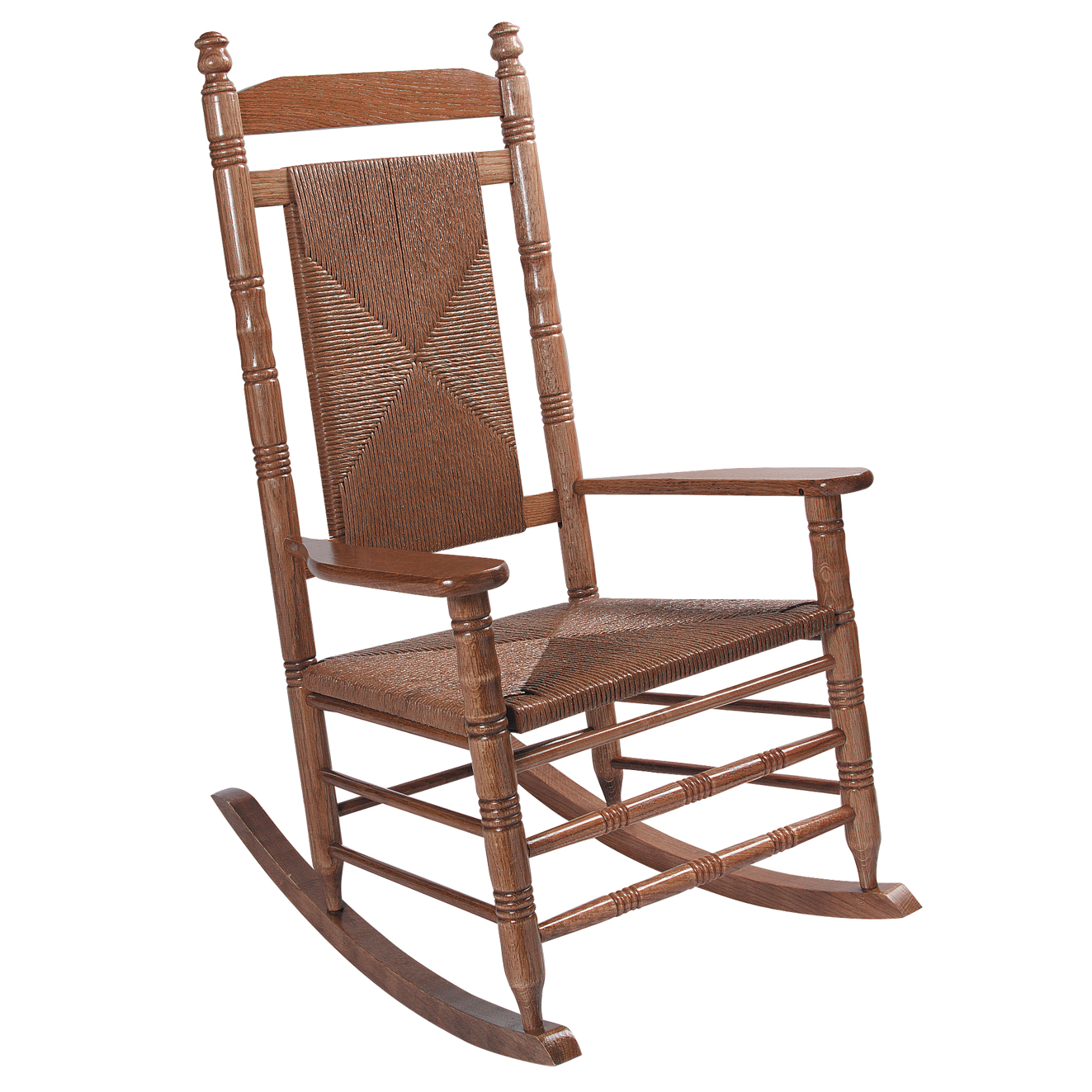 woven rocking chair oversized aluminum indoor wooden chairs cracker barrel old country store seat hardwood