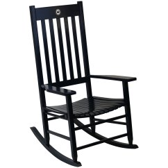 Black Rocking Chairs Unique Office Chair Indoor Wooden Cracker Barrel Old Country Store Team Color Penn State
