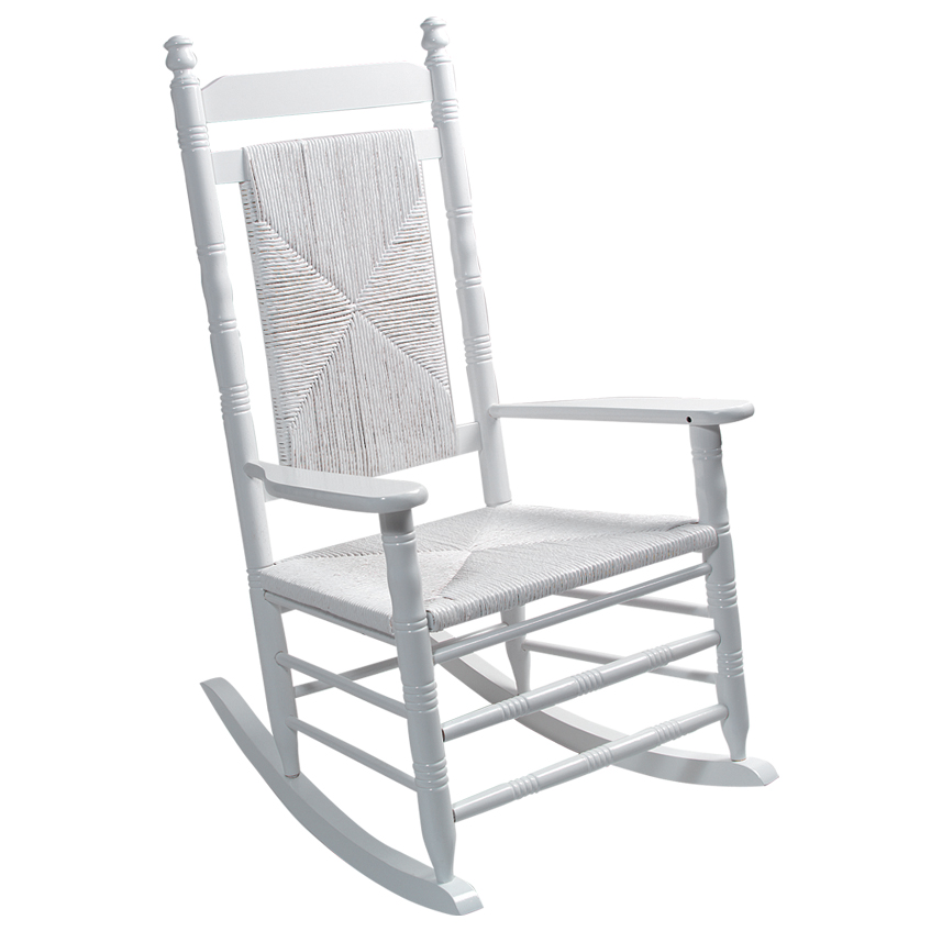 cracker barrel rocking chair reviews beach chairs and umbrella indoor wooden old country store woven seat white