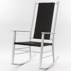 Hard Plastic Outdoor Rocking Chairs Chair Covers For Kitchen Table Cracker Barrel Old Country Store Palm Harbor Wicker White